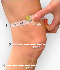 Veturo Therapy Knee Size Guide